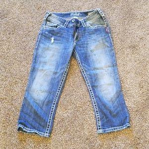 Silver Jean's cropped size 29